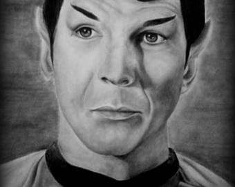 Graphite Drawing- Spock