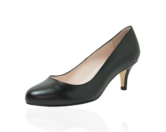 Wide Fit Black Leather Shoes