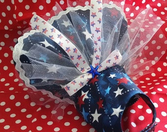 4th of July Star Dress Custom Made with your measurements up to a 16 inch girth