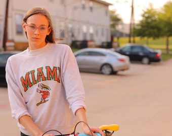 Vintage University of Miami hurricanes college sweatshirt