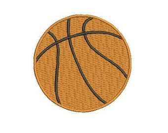 Basketball Embroidery Design Ball Embroidery Design Fill Design Machine Embroidery Instant Download Digital File EN2003_F2
