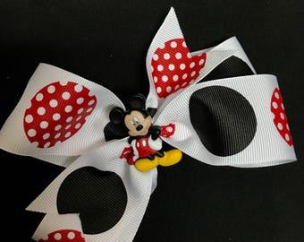 Mickey Mouse Hair Clip Bow