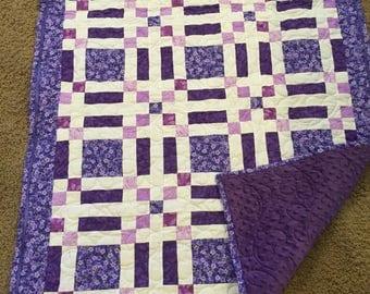 Dark Purple Baby Quilt