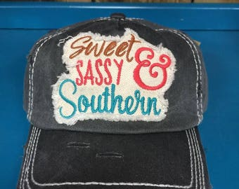 Sweet sassy and Southern ball cap
