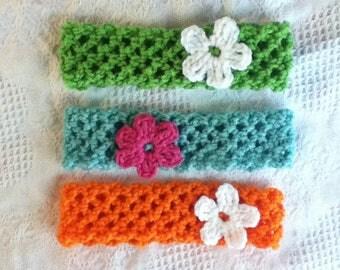 Crochet Floral Lattice Women's Headband