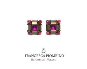 cod.005ES - Earrings Sifra - Handmade stud earrings.