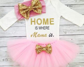 Baby Girl Bodysuits, Mommy and Me, Baby Bodysuits, I Love Mommy, Home is Where Mom Is, Mommy's Girl, Mommy and Me Outfits,