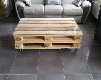 Table low industrial two pallets