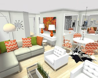 Custom 3D Room Rendering - One View