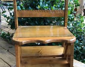wood chair, library wood chair, country wood chair, wood ladder chair