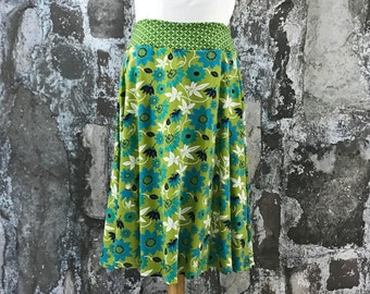 Size 12--Organic Knit Skirt in Nile Flower Pattern