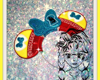 TwEEDLE Brothers Inspired Character (3 Piece) Mr Miss Mouse Ears Headband ~ In the Hoop ~ Downloadable DiGiTaL Machine Emb Design by Carrie