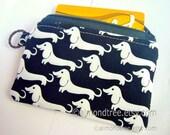 Dachshund, Dog, women wallet credit card case, padded coin purse, id13409235, portemonnaie, moneybag, small zipper pouch, daschund, weiner
