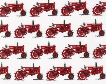 Fat quarter Red Tractors - Robert Kaufman, Mary Lake-Thompson Everyday Favorites cotton quilt fabric