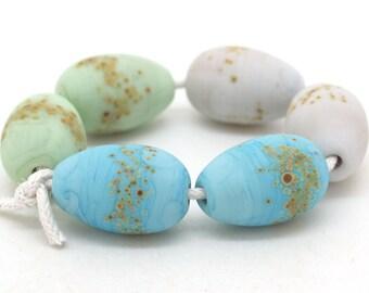 Lampwork Earring Pairs SRA Egg Beads Easter