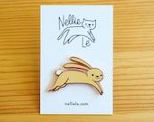 Spring Bunny Enamel Pin