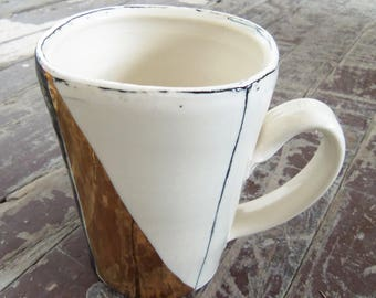 Gold Luster Over Sized Coffee Mug
