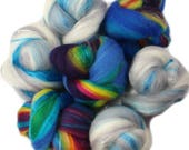Better Days battlings -- mini batts (2 oz.) organic polwarth wool, bamboo, silk, sparkle.