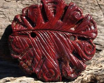 Handmade Ceramic Button or Focal Bead