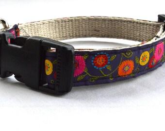 Hemp Dog Collar with Ribbon
