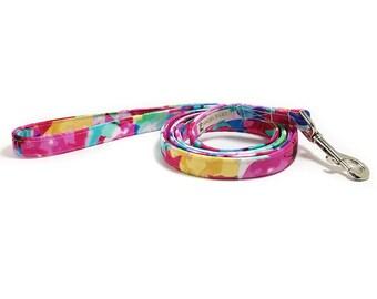Dog Leash - 4 Foot Leash - 5 Foot Leash - 6 Foot Leash - Summer Dog Leash - Lilly Pulitzer Inspired - Girl Dog Leash - Floral Dog Leash