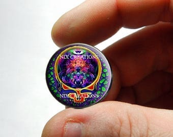 25mm 20mm 16mm 14mm 12mm 10mm or 8mm Glass Cabochon - Grateful Dead Steal Face Head Design 12  - for Jewelry and Pendant Making