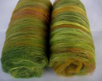 3.2oz, softest merino silk spinning batts, felting batts, nuno felting fiber, wet felting wool, needle felting, spinning fiber, batting