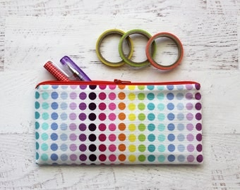 Rainbow pencil pouch - rainbow pencil case - rainbow zipper pouch - rainbow pencil bag - zipper pencil case - travel pouch - eyeglass case