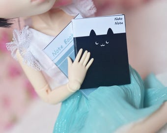 Miniature Notebooks stationery Printables - #3 For Doll house 1:6 / 1:8 / 1:12