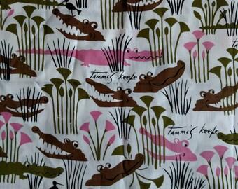 "Tammis Keefe Alligator Fabric 29"" x WOF DESTASH LOT F1019"