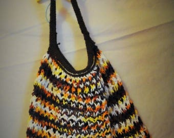 Moving Sale Amazing Stretchy Knitted Carry All - Latte - Dark Multi Color