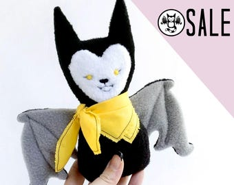 SALE- Stuffy Bat - A soft stuffed bat with a bright yellow bandana