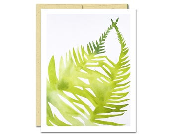 Fern Shadow Notecard // Everyday Card // Modern Card // Blank Notecard // Plant Card // NW Artist // Rachel Austin Card