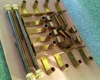 Vintage 1940s Drapery Curtain Hardware Rod Holders Set of 24 pieces 20170204J323