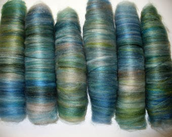 Rolag Vegan Synthetic Fibers for Hand Spinning Yarn