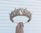Custom Gold + Gem Bridal Filigree Tiara - by Loschy Designs