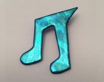 Music note pin, musical jewelry