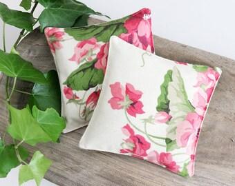Cottage Floral Lavender Sachets, Pink Violets, Scented Drawer Sachets