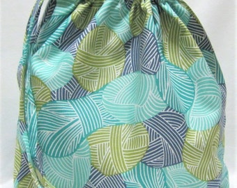 NEW - Small Box Bottom Knitting Project Bag