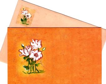 Burnt Orange Blank Cards
