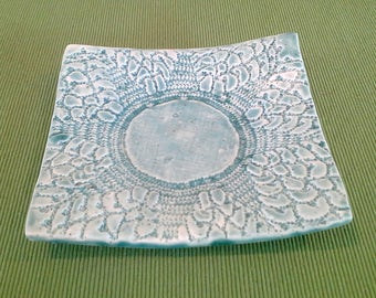 Square Lace Dish