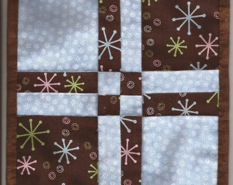 Free US Shipping! Miniature Blue & Brown #6208 Dollhouse Quilt or Rug Great for OOAK Sculpt Doll