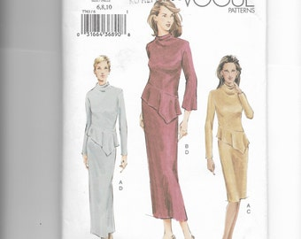 Vogue Misses' Top and Skirt Pattern 7763