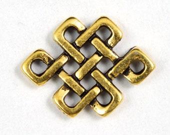 12mm x 10mm Antique Gold Tierracast Eternal Knot Link #CKB057