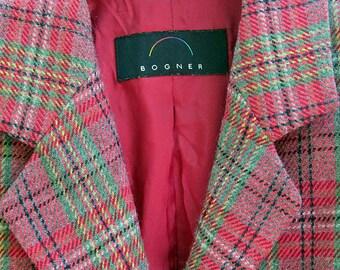 vintage womens tweed blazer by bogner. made in germany. size medium