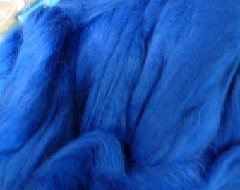 Ashland Bay Corry X Hand Dyed Top for Felting Needle Felting Spinning Blue One Pound
