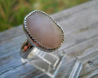 Native American jewelry Rose Quartz ring