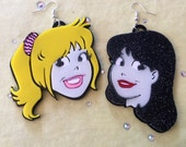 Betty and Veronica Laser Cut Acrylic Earrings