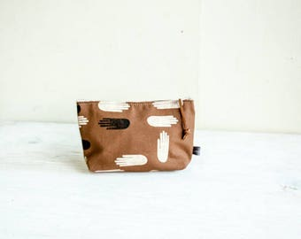 Cosmetic Bag—Las Manos Print