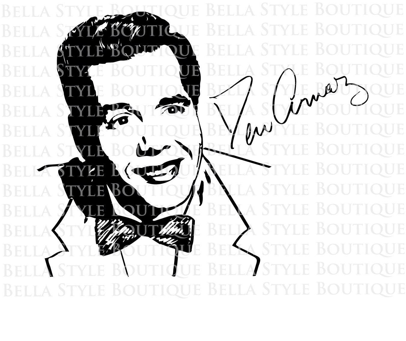 Download Desi Arnaz Ricky Ricardo I Love Lucy Lucille Ball svg cut file